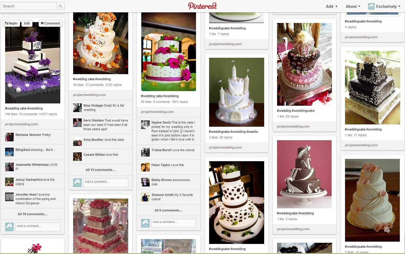 Purple Black Cake on Pinterest