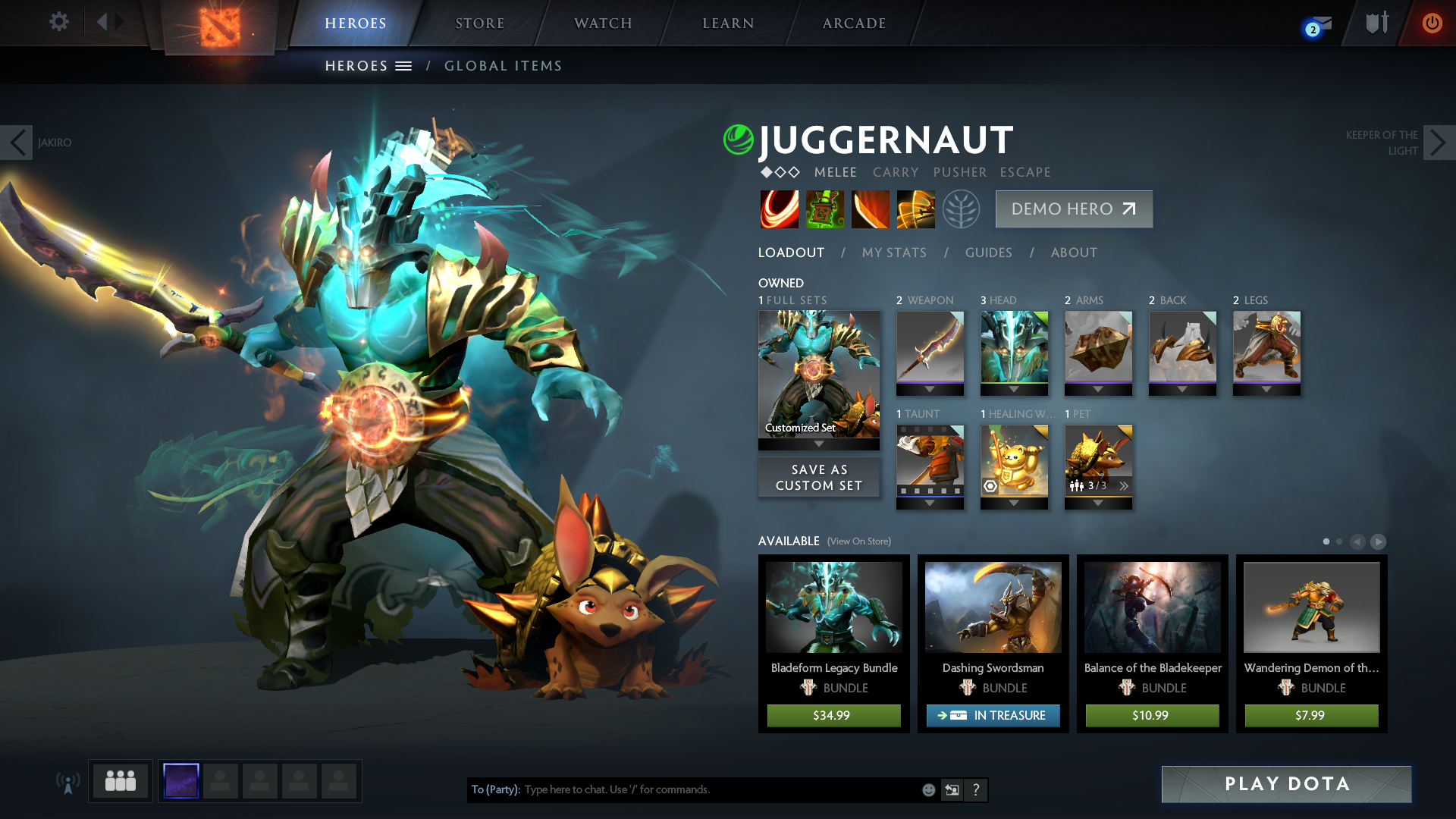 Juggernaut Dota 2 Arcana Set Mount Mercy University