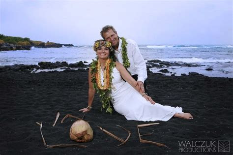 ?Destination Wedding Hawaii ~ Volcano Punalu?u Black Sand