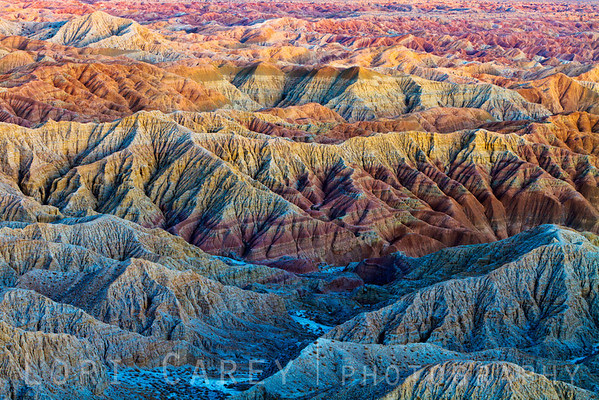 The beautiful colors and layers of the Borrego Badlands, viewed from Fonts Point, Anza-Borrego Desert State Park, California