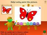 Preschool Games - Lecky's Colouring Game