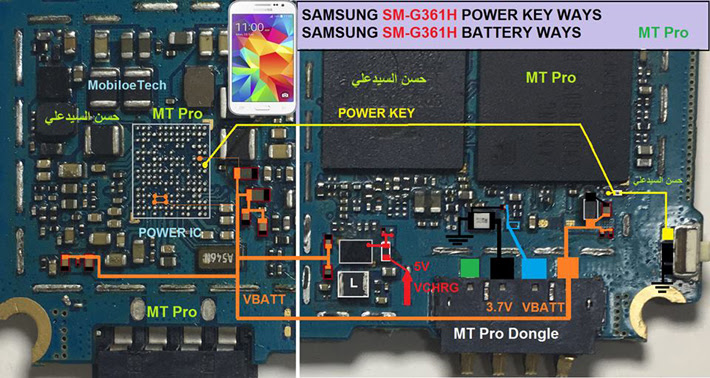 Samsung Galaxy Core Prime G361H Power Button Solution Jumper Ways