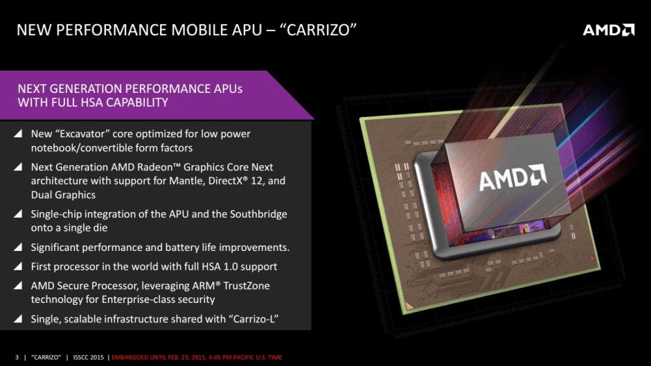 Carrizo, AMD APU Mobile Terbaru Hadirkan Penghematan Daya Hingga 40%