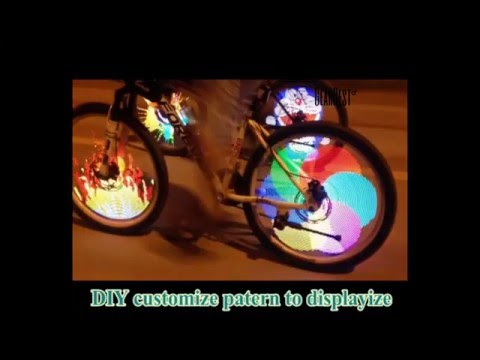 [Coupon] YQ8003 Bicycle Light DIY LED Wheel Light Waterproof for 26 inch Bike Wheel