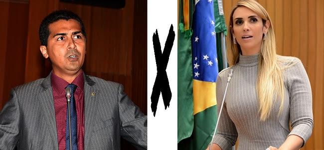 Deputado Marco Aurélio e a deputada Andrea Murad travam discussão no Poder Legislativo do MA