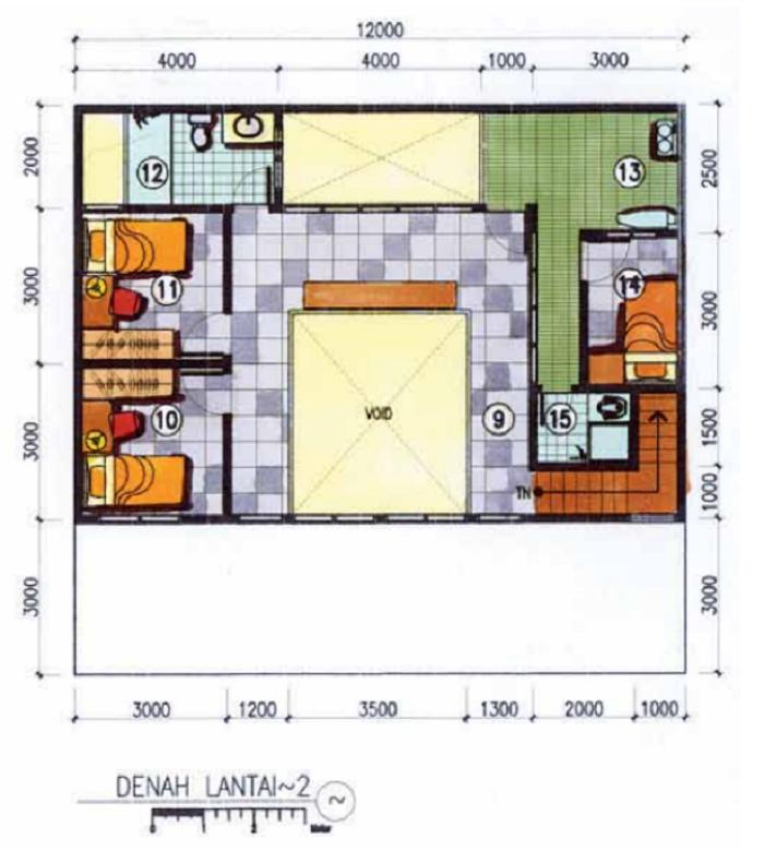 Denah Rumah Type 36/60 1 Lantai - Denah Rumah Type 36 ...
