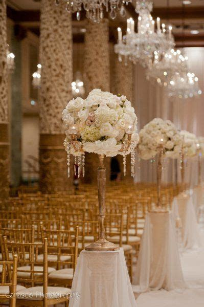 Ceremony aisle decoration can be re used as table