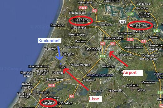 Map Keukenhof In The Netherlands A Map To See Where The