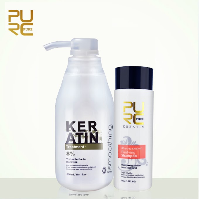 PURC 8% formalin keratin Brazil Keratin Treatment 100ml purifying shampoo hair care make hair