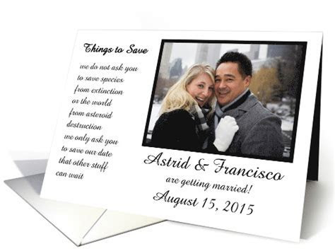 Things to Save   a funny save the date poem card (1265242)
