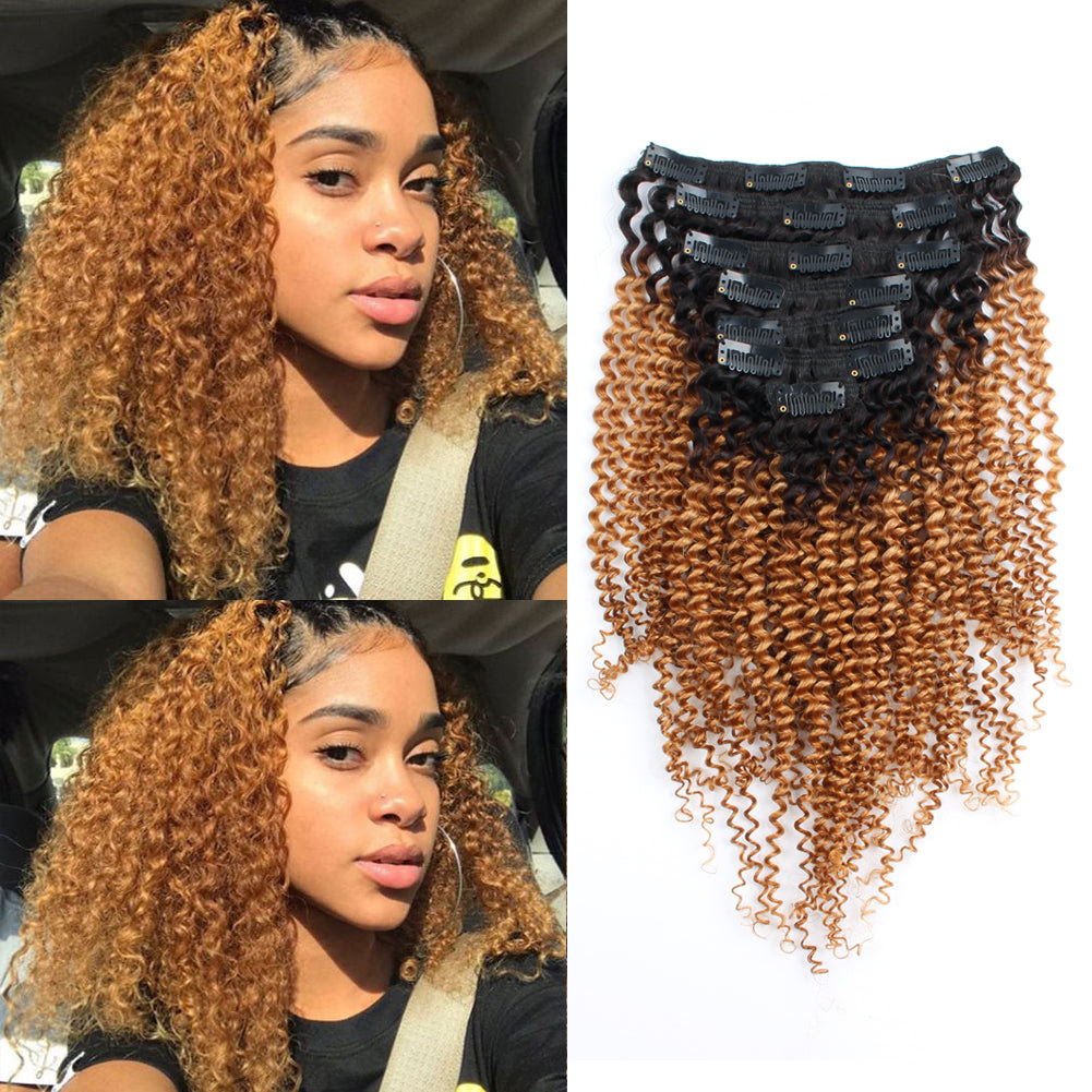 Black To Blonde Ombre Curly Hair Coloring