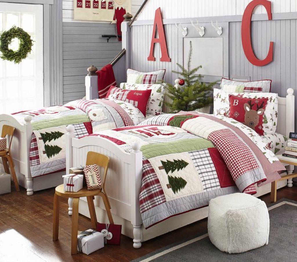 Cozy Christmas Bedroom Decorating Ideas - Festival Around ...