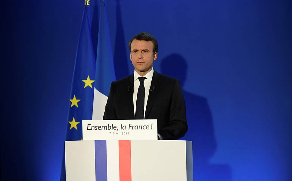 Resultado de imagem para Macron eleito