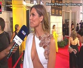 Diana Chaves super sensual na gala Globos Ouro 2019