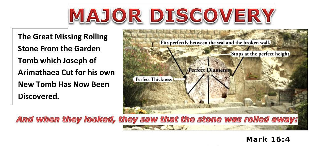 DISCOVERED. The GREAT Stone of Mark 16:4. From the Garden Tomb.