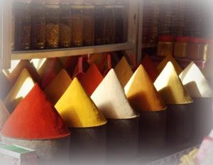 spices  Moroccan bazaar souk perfume