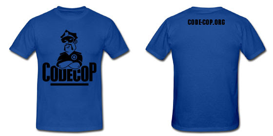 Dark Blue Code Cop T-shirt