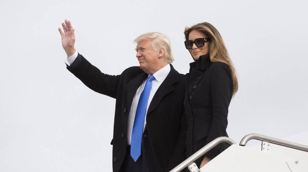 Donald Trump, presidente de EE UU, y su mujer, Melania Trump.