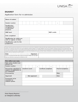 Unisa Application Form Download | Form Template Collection