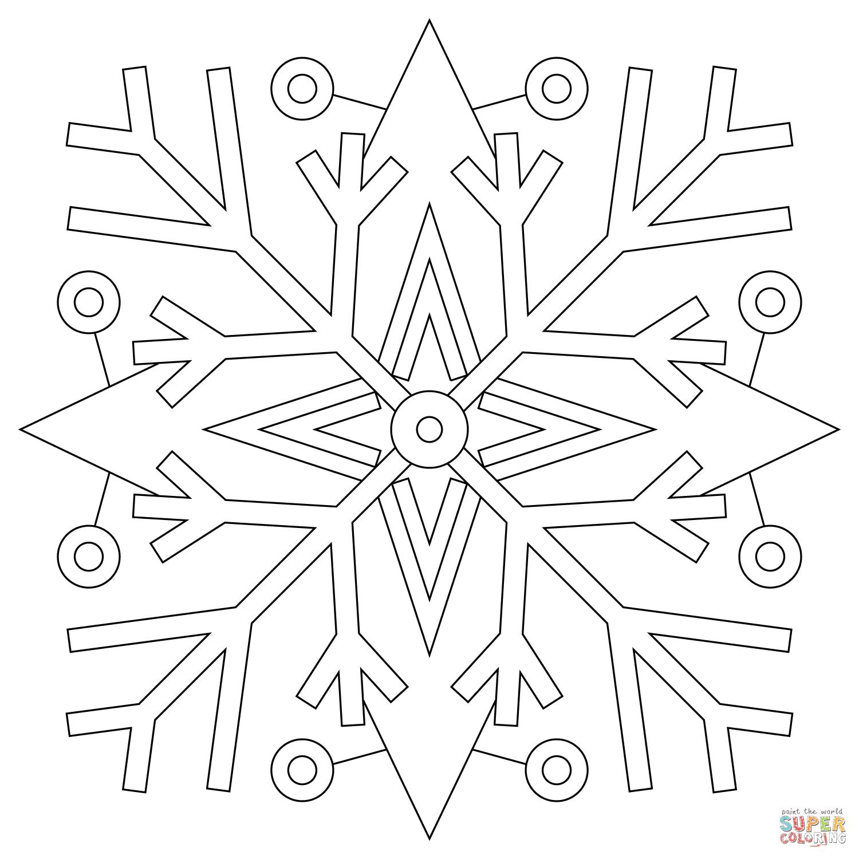 Flocons de neige coloriages pour visualiser la version imprimable ou colorier en ligne patible avec les tablettes iPad et Android