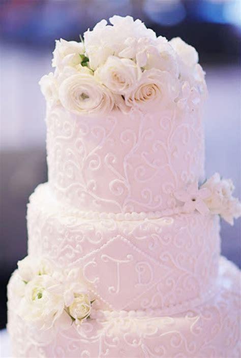 wedding cake monogram and flowers     Wedding Cake with