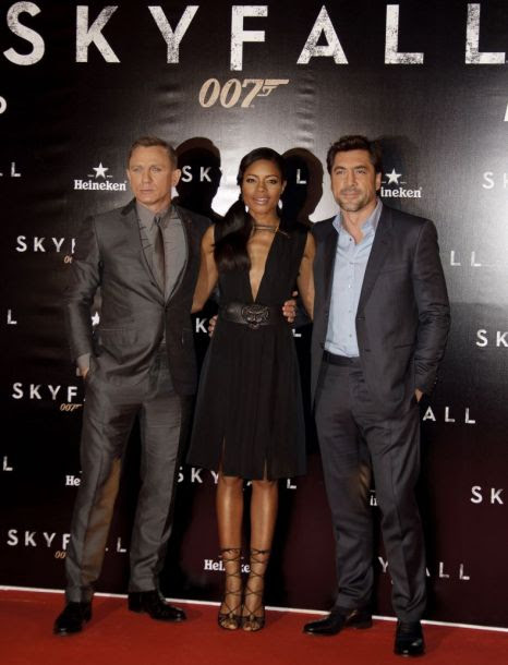 Daniel Craig, Naomie Harris, Javier Bardem, Skyfall, James Bond
