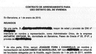Primera pàgina del contracte de lloguer del Banc Expropiat