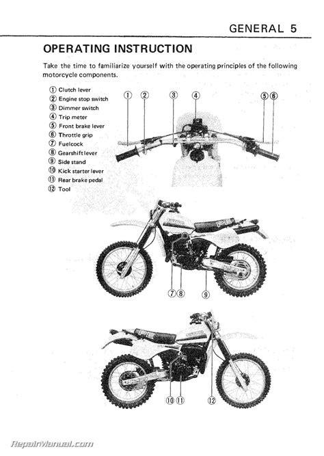 1982-1984 Suzuki PE175 Motorcycle Owners Manual - 800-426