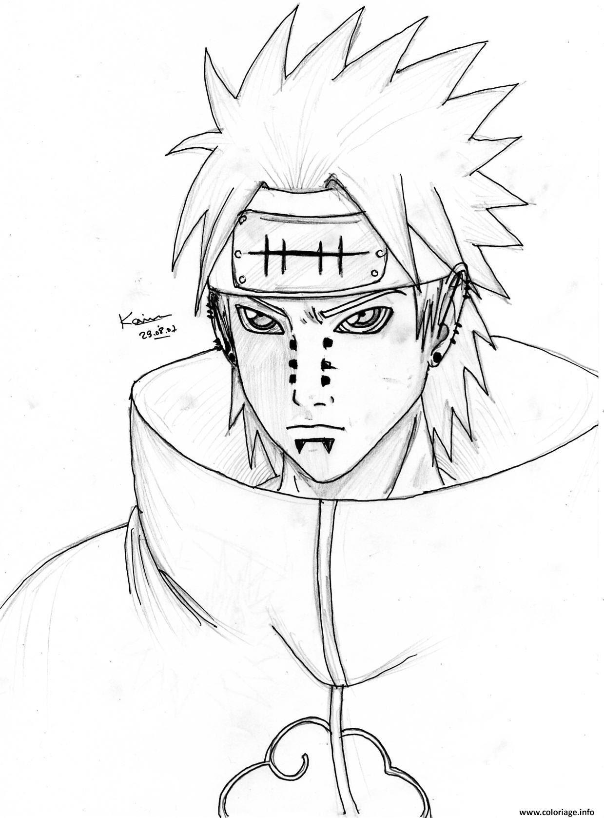 Coloriage Manga Naruto 120 Dessin  Imprimer