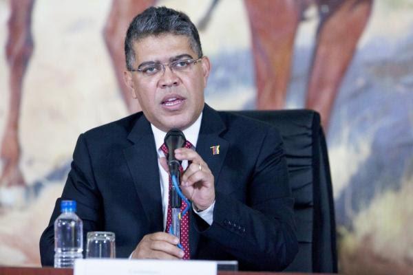 El canciller de la República, Elías Jaua
