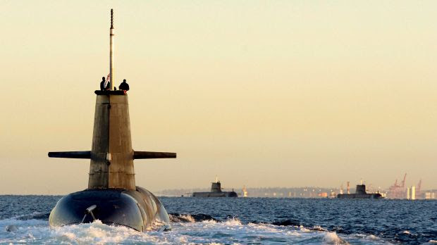 Royal Australian Navy Collins-class submarines during an international naval exercise. The US Armed Services Committee recently heard that by 2020, China is likely to have 82 submarines in the Asia-Pacific area.