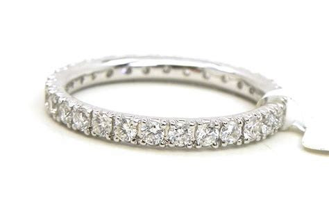 Ladies 18k White Gold Diamonds Eternity Wedding Band Ring