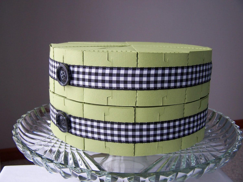 Mint Green Paper Cake - Set of 24
