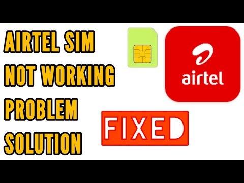 Fix Airtel Sim Not Working Problem Solved