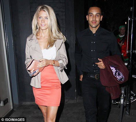 Joining in: Theo Walcott and Melanie Slade