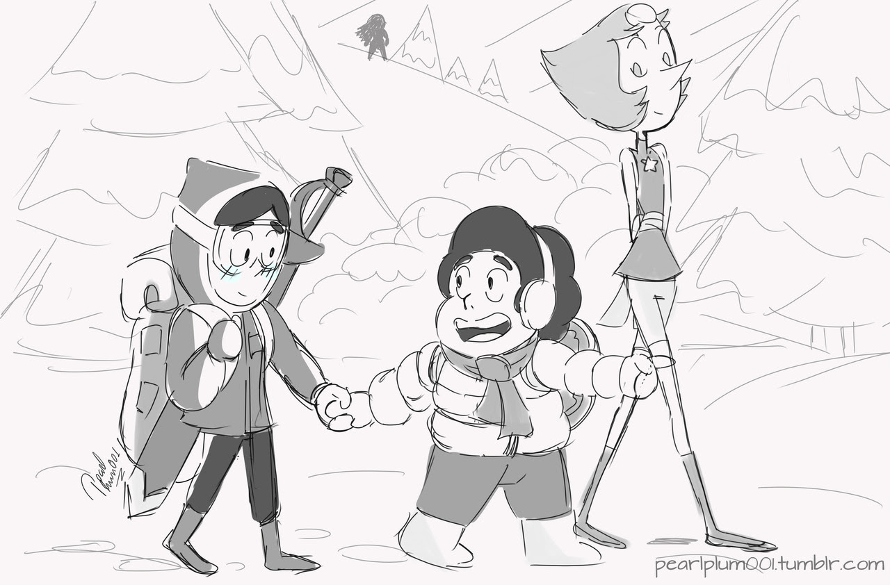 Connie's first mission!! —Steven. Gem Hunt