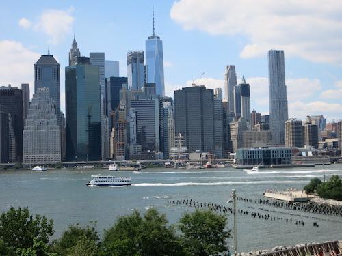 manhattan skyline brooklyn heights promenade nyc