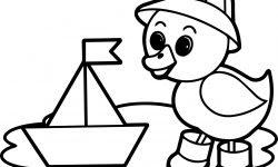 şirin ördek Gemi Boyama Sayfası