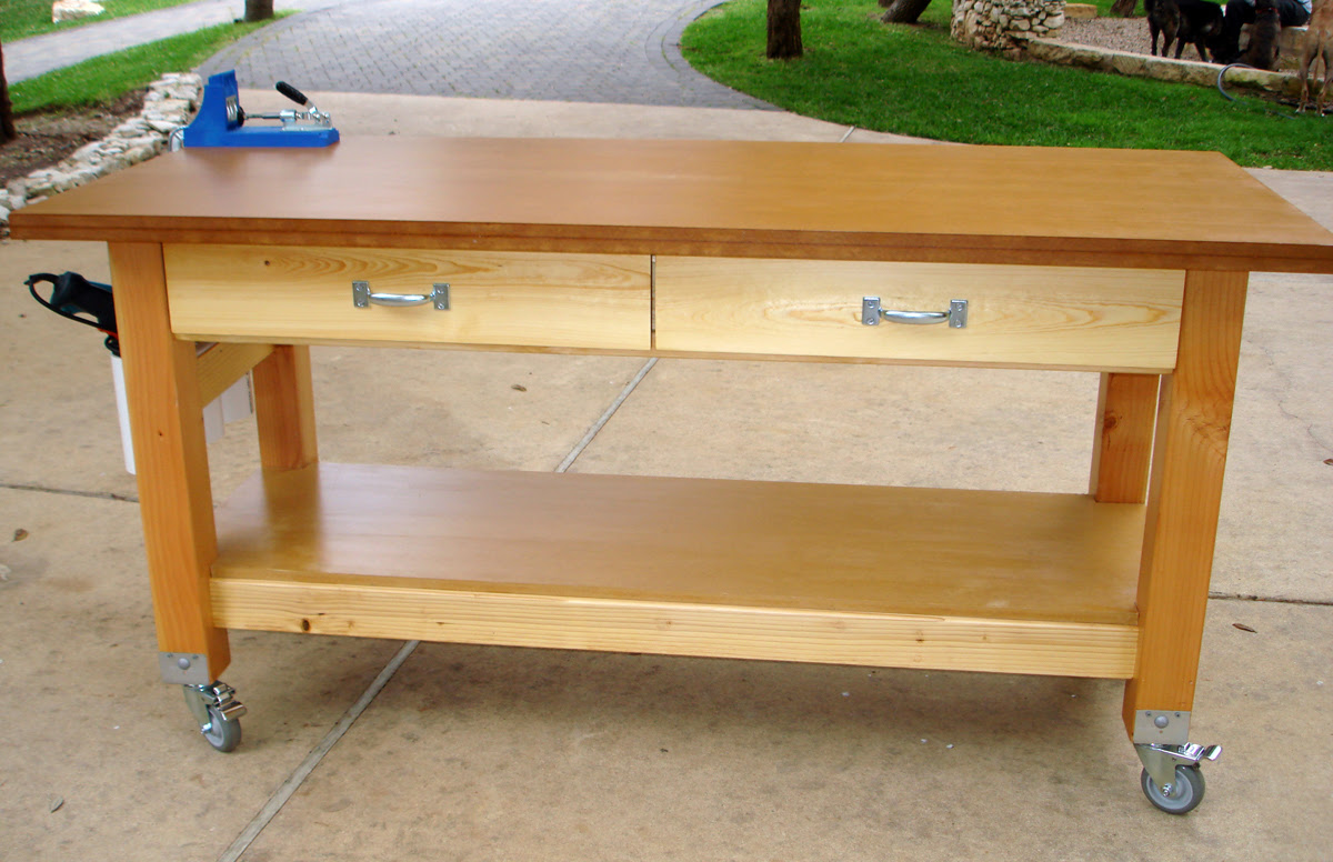 Rolling Work Table Woodworking Plans Simple Woodworking
