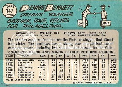 #147 Dennis Bennett (back)