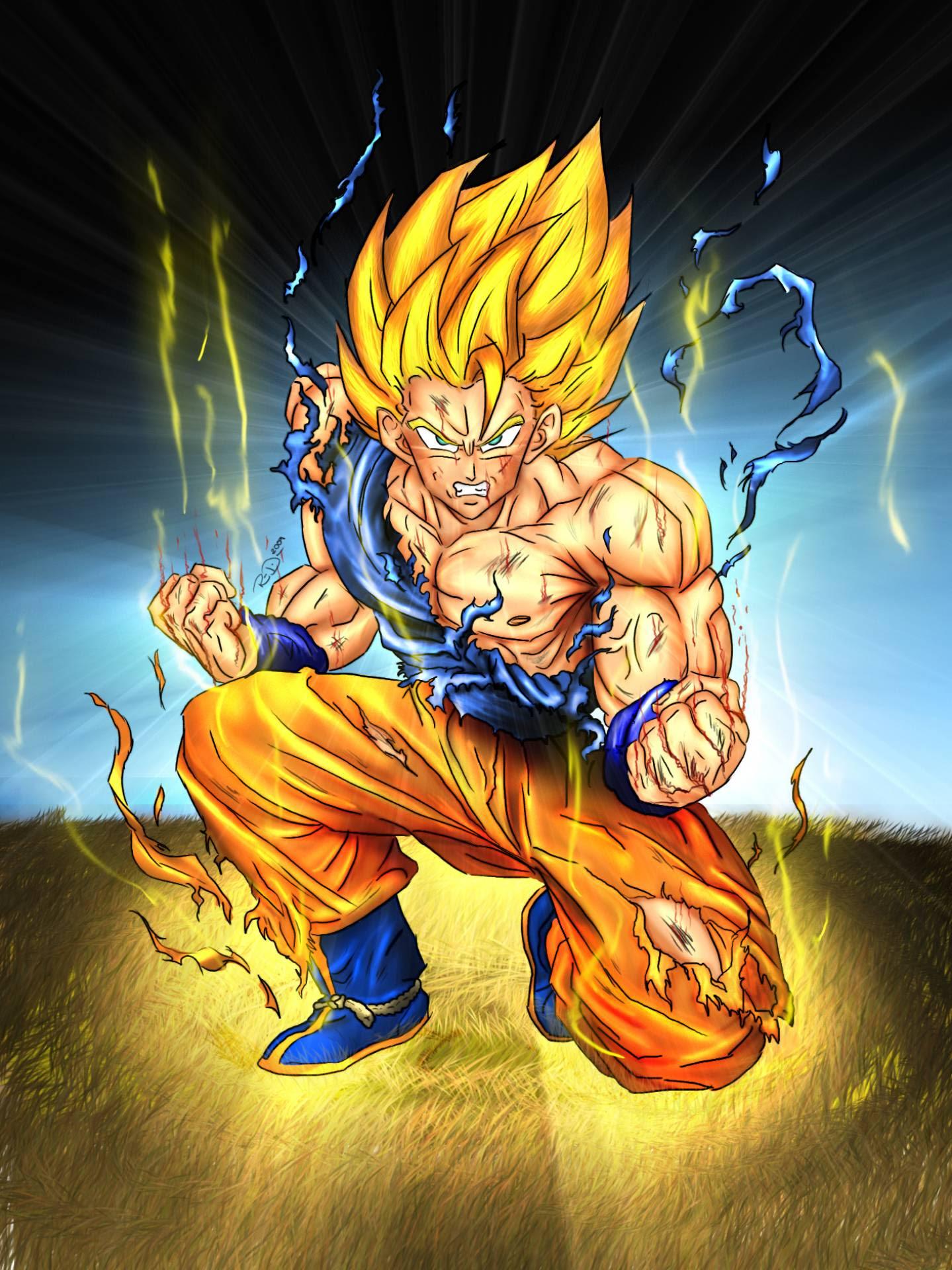 Super Saiyan Goku Dragon Ball Z Fan Art 35516340 Fanpop