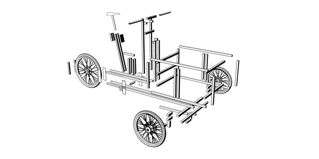 Three Wheel Modified Items, Modular Cargo Bike, Three Wheel Modified Items