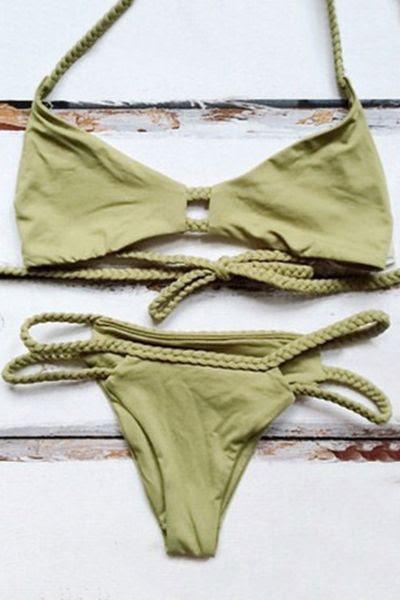☆ http://www.zaful.com/halter-green-braid-bikini-set-p_145952.html ☆ https://es.pinterest.com/iolandapujol/pins/ ☆ @iola_pujol/