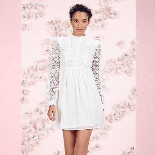 LC Lauren Conrad Runway Collection Lace Babydoll Mini Dress - Women's