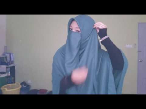 Tutorial Hijab Segi Empat Cadar