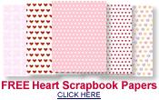 free Valentine hearts scrapbook paper