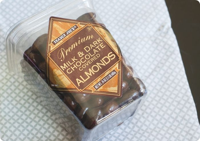 trader joe's chocolate covered almonds review