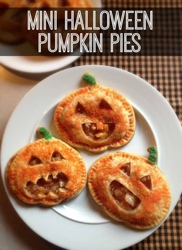 Mini Halloween Pumpkin Pies by Inspiration for Moms