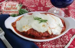 Easy Crispy Eggplant Parmesan