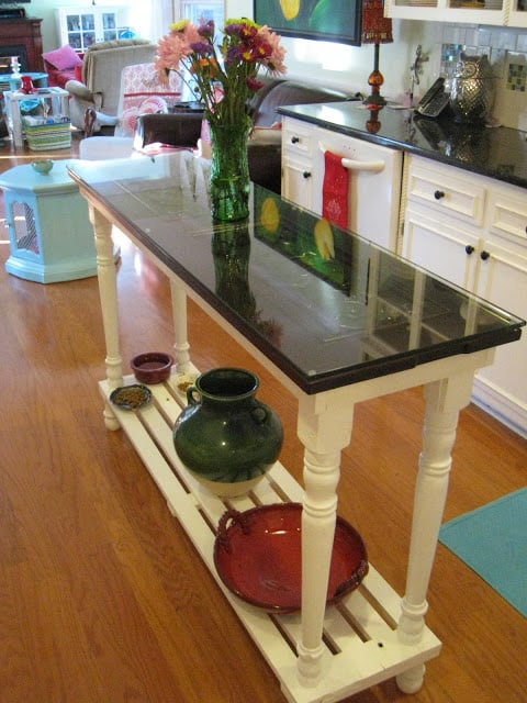 Repurposed For Life:  Kitchen  island made from piano parts